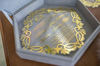 wedding-invitation-in-velvet-six-sided-hexagon-box-with-gold-invitation-crystal-lucite-acrylic