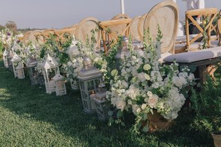 white-floral-arrangements-and-antique-lanterns