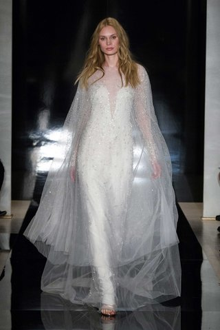reem-acra-spring-2017-wedding-dress-embroidered-with-pearls-and-grommets-and-matching-over-cape