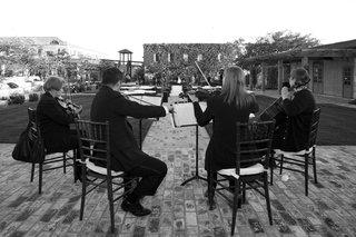 black-and-white-photo-of-wedding-string-quartet