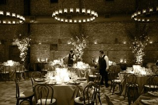 sepia-tone-photo-of-wine-cellar-wedding-reception