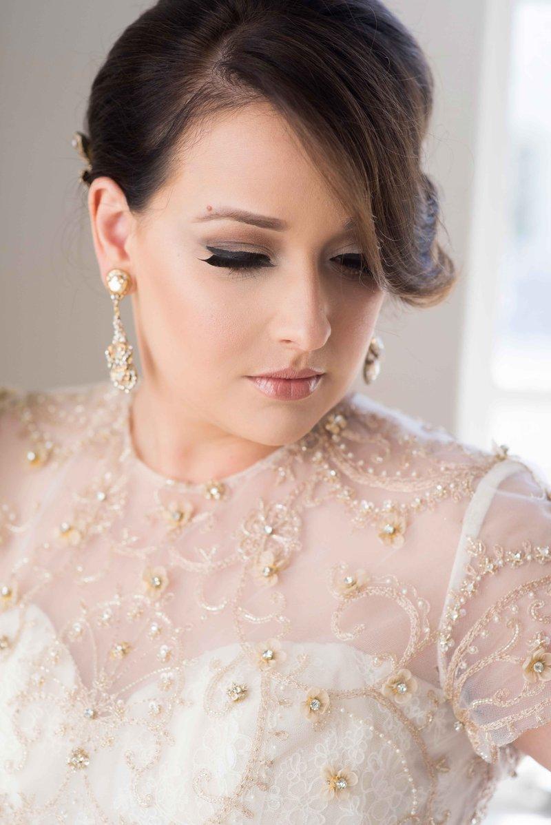Bride with Glamorous Makeup & Hair