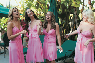 pink-bridesmaids-at-beverly-hills-hotel-wedding