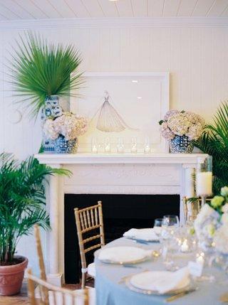 nardos-imam-sketch-of-custom-wedding-dress-on-fireplace-mantle-southern-interiors-inspired-wedding