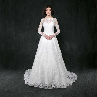 sareh-nouri-spring-2017-lily-of-the-valley-long-sleeve-lace-wedding-dress-a-line-skirt-sweetheart