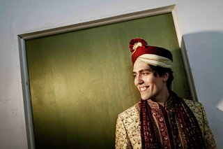 groom-in-red-and-ivory-sherwani-and-turban-pagri