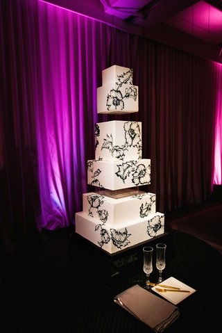 butter-end-cakery-square-cake-with-black-illustrations-of-anemones