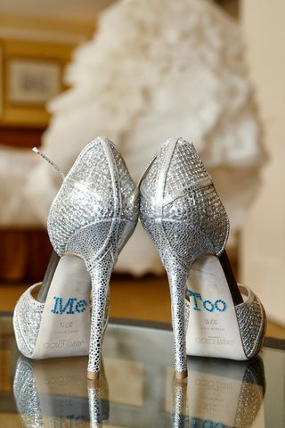 sparkly-silver-jimmy-choo-wedding-shoes-with-me-too-sticker-decals