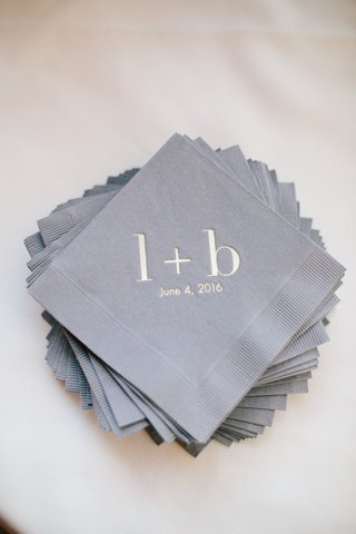 grey-cocktail-napkins-with-initials-in-lowercase-and-wedding-date