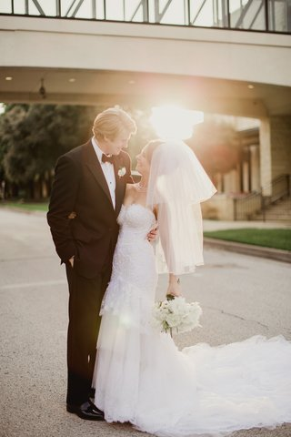 bride-in-michael-faircloth-elbow-length-veil-with-blusher-groom-in-tuxedo