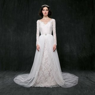 sareh-nouri-spring-2017-morning-glory-long-sleeve-column-wedding-dress-with-overskirt-front-open
