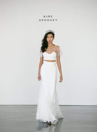 rime-arodaky-fall-2017-bridal-salem-crop-top-with-flower-embroidered-tulle-neckline-flutter-sleeves