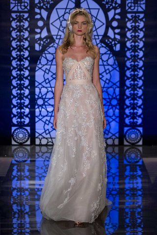 reem-acra-bridal-fall-2016-strapless-sheath-with-embroidery-flower-appliques-and-blush-ribbon