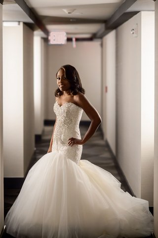 african-american-bride-in-strapless-trumpet-bridal-gown-with-embellished-beaded-strapless-bodice
