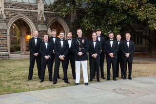 usmc-captain-groom-in-dress-blue-and-groomsmen-in-tuxes