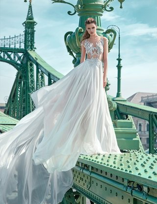 gala-by-galia-lahav-2016-illusion-cap-sleeve-bodice-and-long-skirt-wedding-dress