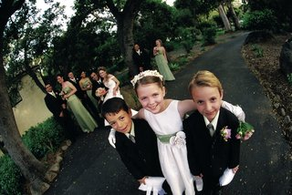fish-eye-photo-of-formal-ring-bearers-and-flower-girl