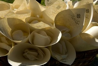 ivory-paper-cones-filled-with-rose-petals