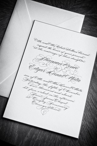 black-and-white-photo-of-simple-script-invite
