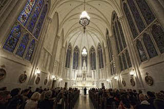 wedding-ceremony-at-catholic-church-with-vaulted-ceilings