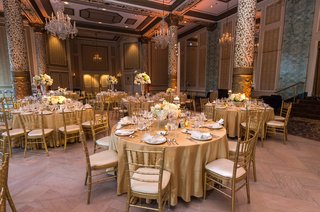 the-drake-hotel-gold-coast-room-wedding-reception-gold-wedding-colors