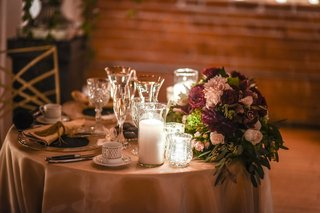 small-sweetheart-table-with-burgundy-and-blush-floral-arrangement