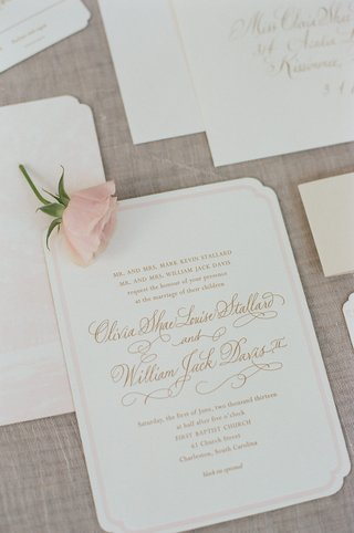 light-pink-bordered-wedding-invites-and-rose