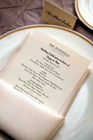 menu-on-the-peninsula-chicago-letterhead