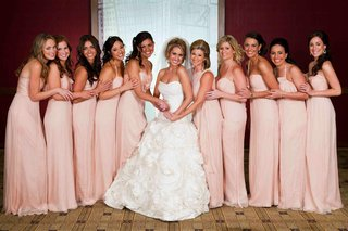 bridesmaids-in-blush-floor-length-gowns