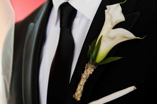 white-calla-lilies-wrapped-in-vintage-dress-swatch