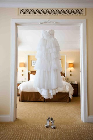 empire-waist-wedding-dress-and-tiered-skirt