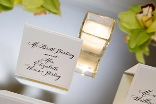 white-seating-cards-with-black-calligraphy-lettering