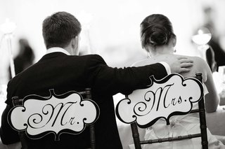 black-and-white-photo-of-sweetheart-chair-signs