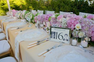 silver-framed-table-number-with-yearbook-photos