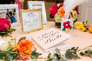 bridal-shower-guest-book-pink-book-advice-and-wishes-for-the-bride-flowers