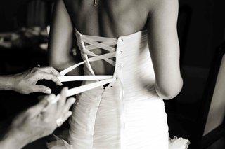 black-and-white-photo-of-corset-back-dress