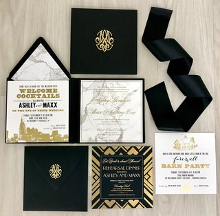 white-black-and-gold-invitation-suite-with-marble-motif-by-nico-and-lala