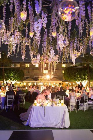 wedding-reception-on-the-lawn-of-the-arizona-biltmore-with-candlelight-and-purple-lighting