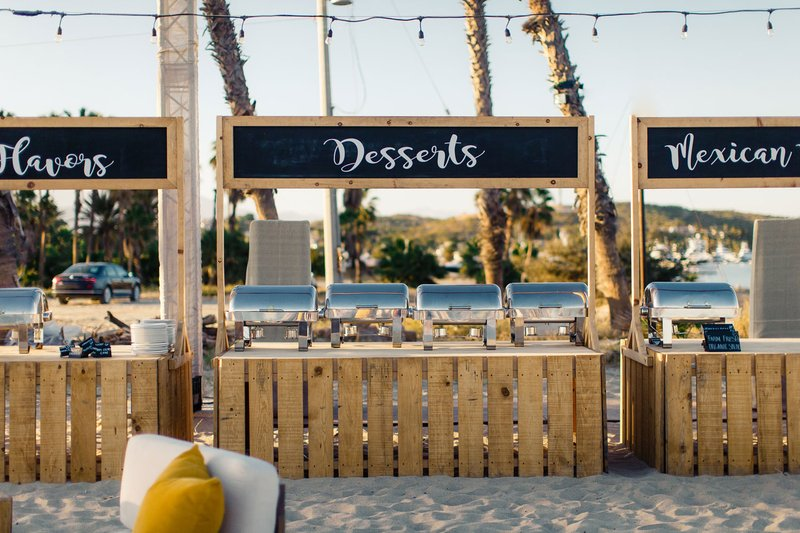 Food Stations on the Beach