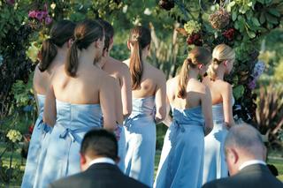 bridesmaid-dress-in-blue-with-tie-around-waist