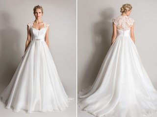 white-queen-anne-neckline-wedding-dress-lace-back