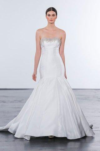 dennis-basso-for-kleinfeld-2018-collection-wedding-dress-strapless-trumpet-gown-mikado-satin-beading