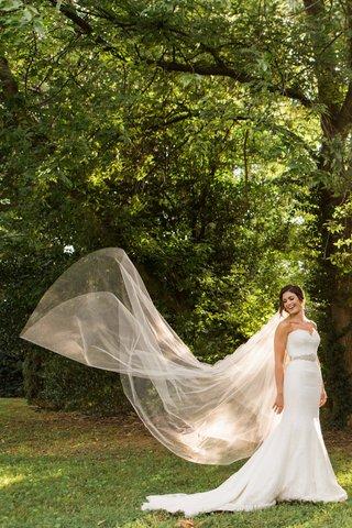 full-body-bride-white-dress-sheer-veil-flowing-mermaid-dress