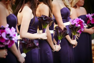 purple-calla-lily-bouquet-and-multi-flower-bridesmaid-bouquet