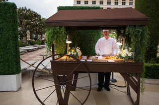 outdoor-italian-food-station-at-wedding-cocktail-hour