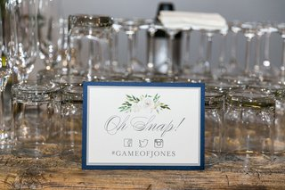 wedding-hashtag-sign-gameofjones-oh-snap-with-facebook-twitter-and-instagram-symbol-logos-flowers