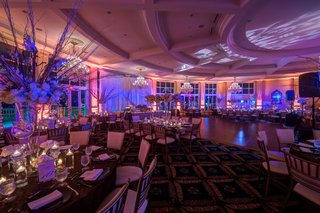 ballroom-reception-with-blue-uplighting-and-patterned-projections