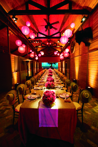 long-rectangular-table-with-paper-lanterns-overhead