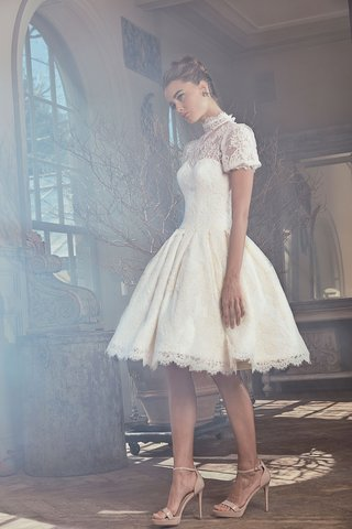 sareh-nouri-spring-2019-swan-lake-collection-wedding-dress-otto-short-sleeve-high-neck-cocktail