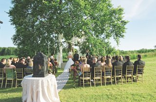 alfresco-ceremony-under-elm-tree-on-grass